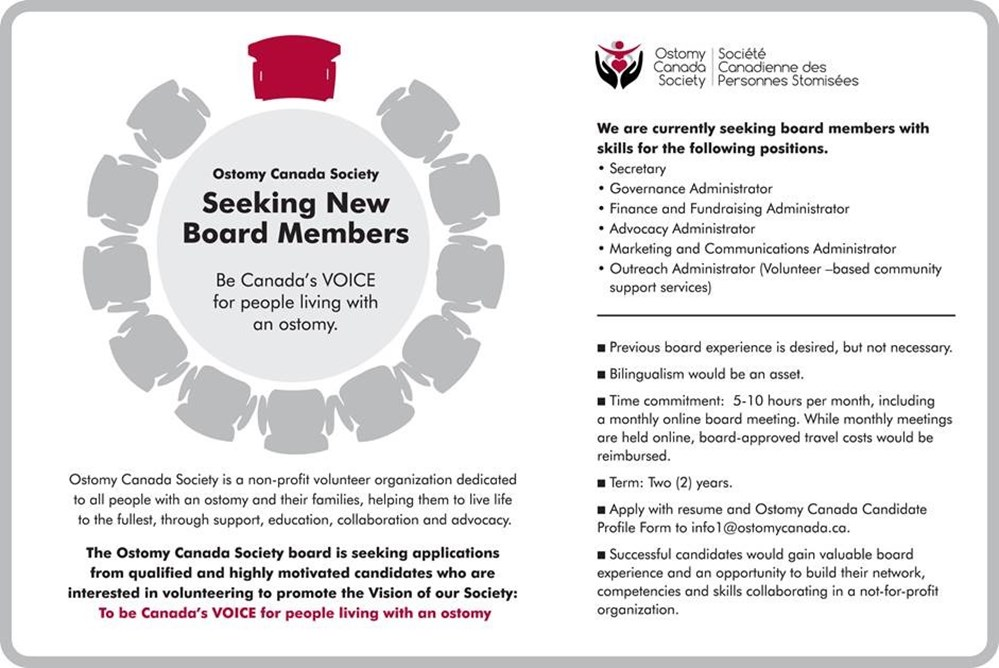 Ostomy Canada Board Posting